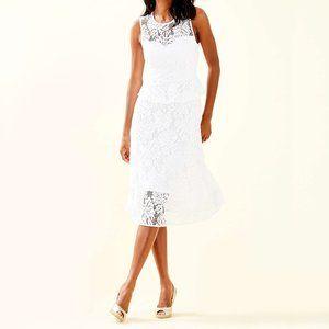 Lilly Pulitzer Nolea White Lace Midi Dress 14